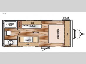 Floorplan - 2016 Forest River RV Salem Cruise Lite FS 175FB