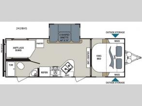 Floorplan - 2017 Dutchmen RV Aerolite 242BHS