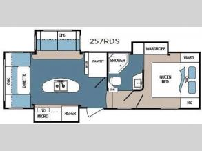 Floorplan - 2017 Dutchmen RV Denali 257RDS