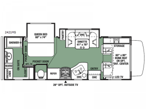 Forester 2421MS Ford Floorplan Image