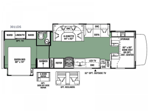 Forester 3011DS Ford Floorplan Image