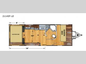 Iconic Limited 2114SF-LE Floorplan Image
