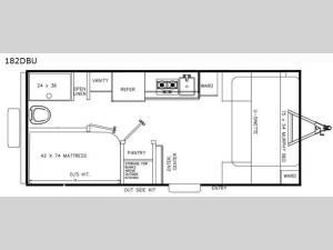 Clipper Ultra-Lite 182DBU Floorplan Image
