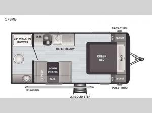 Hideout Single Axle 178RB Floorplan Image
