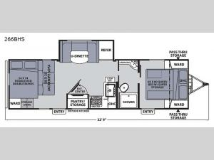 Apex Ultra-Lite 266BHS Floorplan Image