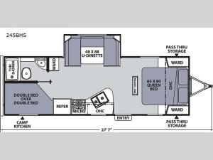 Apex Ultra-Lite 245BHS Floorplan Image