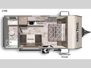 Aspen Trail 17RB Floorplan Image