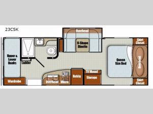 Vista Cruiser 23CSK Floorplan Image