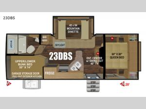 Timber Ridge Mountain Series 23DBS Floorplan Image