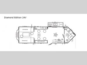 Ice Castle Fish Houses Diamond Edition 24V Floorplan Image