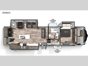 Cardinal Luxury 344SKX Floorplan Image