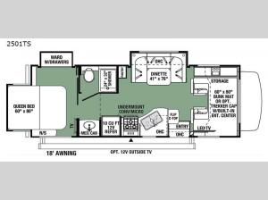 Forester Classic 2501TS Chevy Floorplan Image