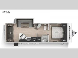 Cherokee Grey Wolf Black Label 23MKBL Floorplan Image