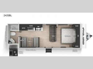 Cherokee Grey Wolf Black Label 24JSBL Floorplan Image