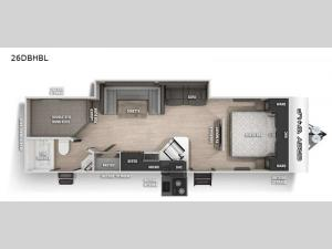 Cherokee Grey Wolf Black Label 26DBHBL Floorplan Image