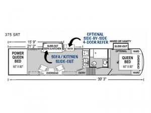Supreme 375 SRT Floorplan Image