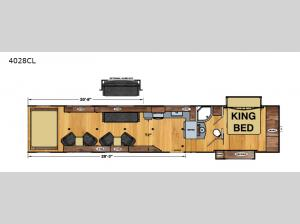 Iconic Wide Body 4028CL Floorplan Image