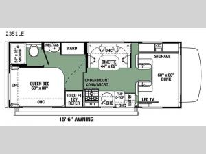 Forester LE 2351LE Chevy Floorplan Image