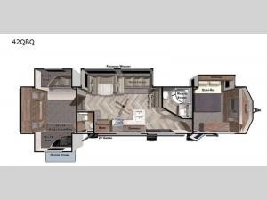 Salem Villa Series 42QBQ Floorplan Image