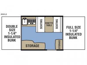 Clipper Camping Trailers 806 XLS Floorplan Image