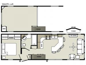 Quailridge 39AKFFL Loft Floorplan Image