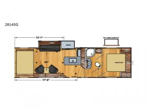 Iconic Wide Lite 2814SG Floorplan Image
