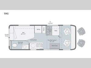 Travato 59G Floorplan Image