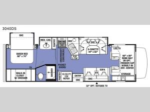 Sunseeker 3040DS Ford Floorplan Image