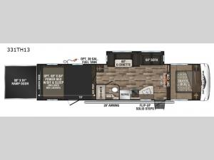 Sportster 331TH13 Floorplan Image