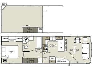 Quailridge 39UKL Loft Floorplan Image