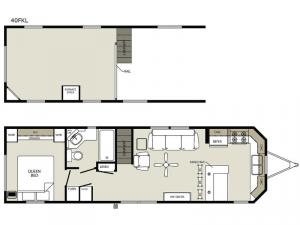 Quailridge 40FKL Loft Floorplan Image