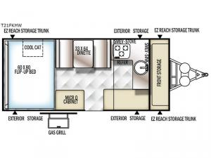 Flagstaff Hard Side High Wall Series 21FKHW Floorplan Image