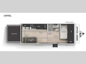 Cherokee Grey Wolf Black Label 18RRBL Floorplan Image