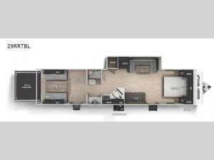 Cherokee Grey Wolf Black Label 29RRTBL Floorplan Image