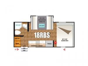 Creek Side Mountain Series 18RBS Floorplan Image