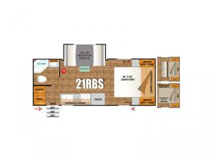 Creek Side Mountain Series 21RBS Floorplan Image