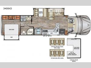 DynaQuest XL 3400KD Floorplan Image