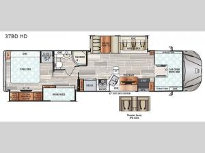FORCE HD 37BD HD Floorplan Image