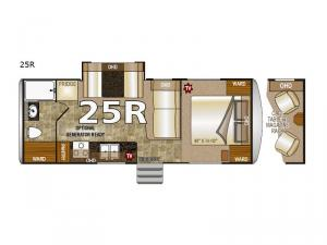 Arctic Fox 25R Floorplan Image