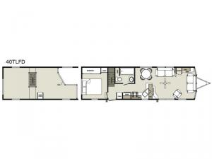 Summit 40TLFD Loft Floorplan Image