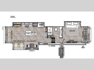 Cedar Creek Champagne Edition 38EL Floorplan Image