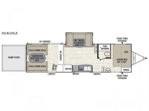 Freedom Express Liberty Edition 301BLDSLE Floorplan Image