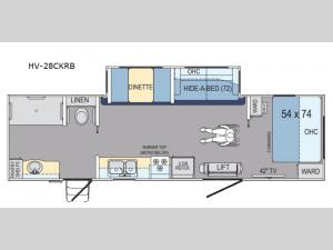 Harbor View HV-28CKRB Floorplan Image