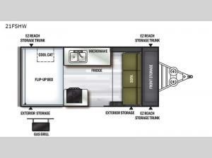 Flagstaff Hard Side High Wall Series 21FSHW Floorplan Image