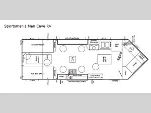 Ice Castle Fish Houses Sportsmen's Man Cave RV Floorplan Image