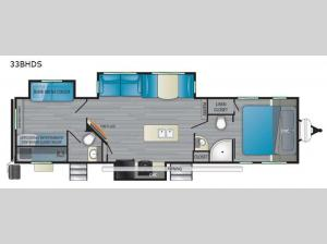 North Trail 33BHDS Floorplan Image