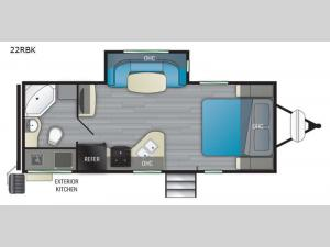 North Trail 22RBK Floorplan Image
