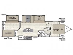 Freedom Express Ultra Lite 320BHDS Floorplan Image