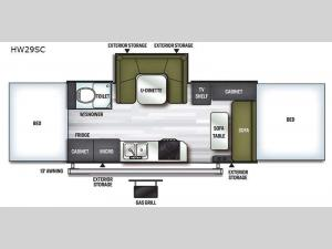 Flagstaff High Wall HW29SC Floorplan Image