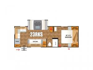 Creek Side Mountain Series 23RKS Floorplan Image